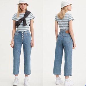 NWT Levi's Mile High Wide Leg Crop Jeans 30